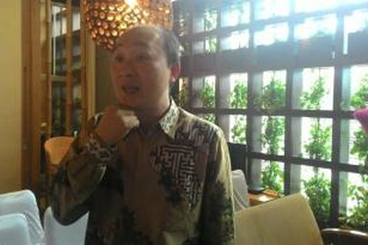 Senior Vice President BTPN Chairul Sani, di Kantor BTPN Sinaya, Makassar, Selasa (27/1/2015)