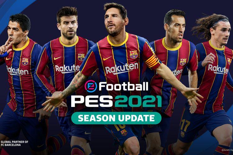 Ilustrasi poster game eFootball PES 2021