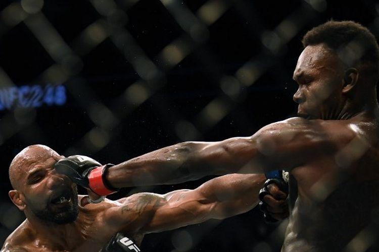 Pertarungan Israel Adesanya vs Yoel Romero pada UFC 248 yang digelar di T-Mobile Arena, Las Vegas, Amerika Serikat, Minggu (8/3/2020).