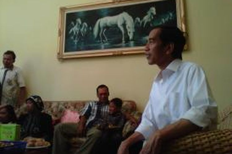 Jokowi di hari ketiga lebaran di Solo,Sabtu (10/8/2013).