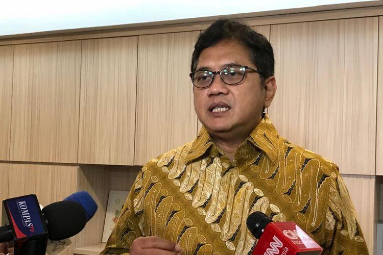 Wakil Ketua Umum PAN Viva Yoga Mauladi, di Kompleks Parlemen, Senayan, Jakarta, Rabu (25/7/2018).