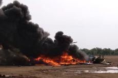 BERITA FOTO: Tragedi Helikopter TNI AD Jatuh dan Terbakar di Kendal, 4 Prajurit Gugur