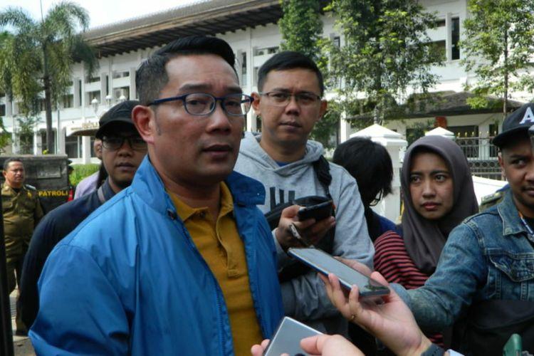 Gubernur Jawa Barat Ridwan Kamil saat ditemui di Gedung Sate, Jalan Diponegoro, Selasa (31/12/2019).