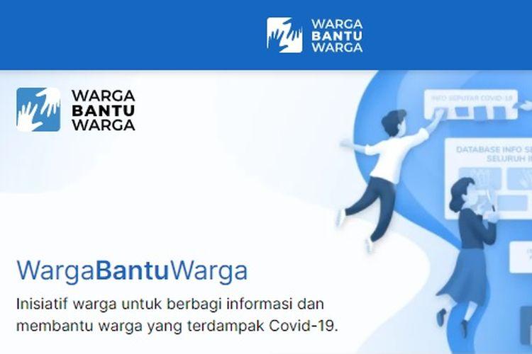 Situs web wargabantuwarga.com