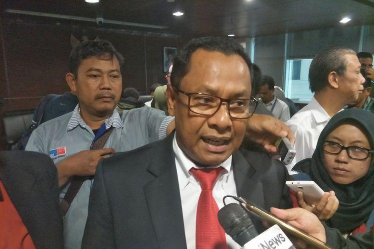 Kuasa hukum Fredrich Yunadi, Sapriyanto Refa, saat ditemui di kantor Perhimpunan Advokat Indonesia (Peradi), Slipi, Jakarta Barat, (Kamis 18/1/2018).