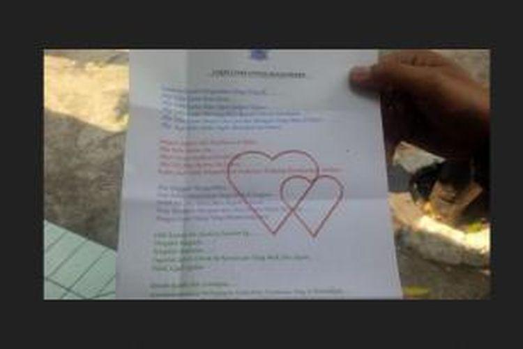 Ini Isi Surat Cinta Polisi Untuk Pengendara Yang Melanggar