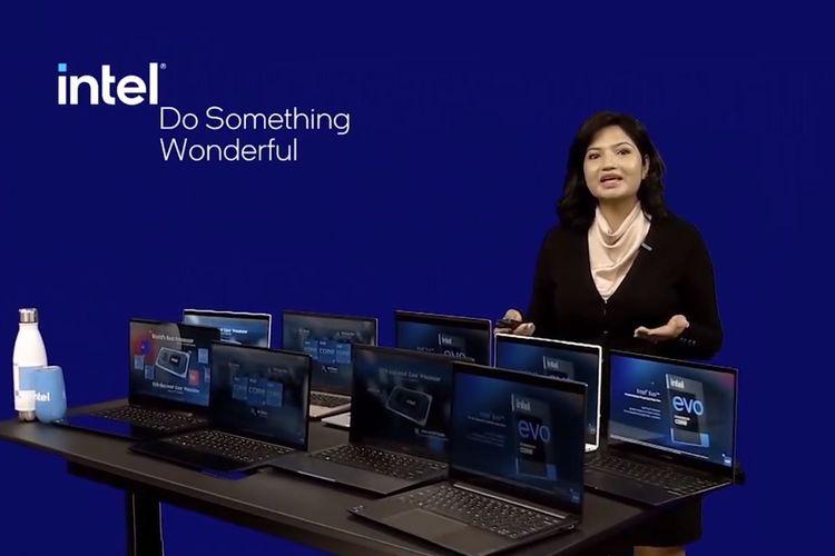 Jajaran laptop Intel Core generasi ke-11 yang bakal dipasarkan di Indonesia.