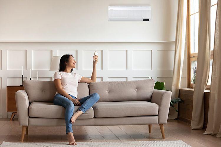 Ilustrasi penggunaan AC Samsung WINDFREE? di rumah