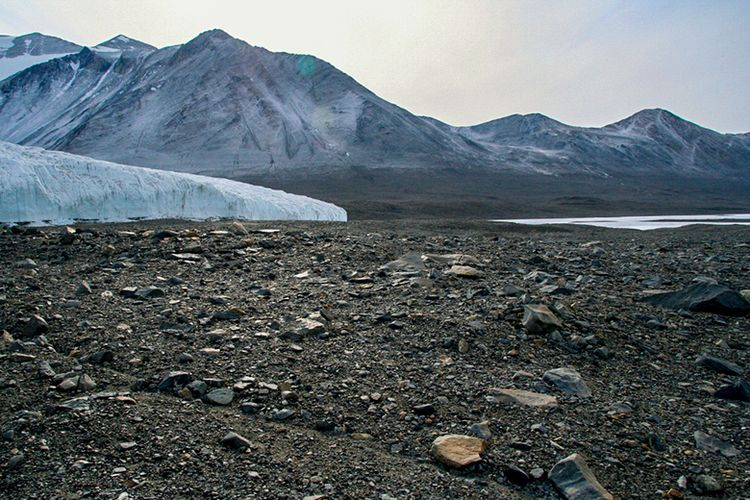 Dry Valleys di Antartika.