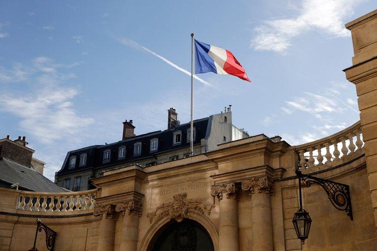 Kantor dan kediaman perdana menteri Perancis, Hotel de Matignon, di Paris.