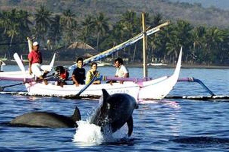 Pantai Lovina di Kabupaten Buleleng, Bali.