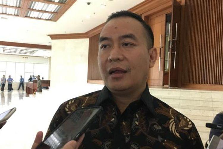 Anggota Komisi III dari Fraksi Partai Demokrat Didik Mukrianto di Kompleks Parlemen, Senayan, Jakarta, Selasa (4/10/2016)