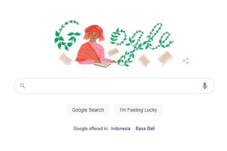 Google Doodle hari ini menampilkan sosok Sariamin Ismail