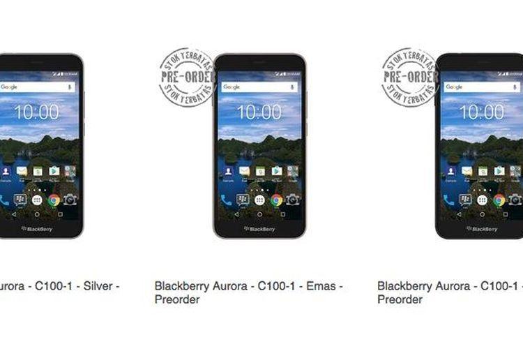 Blackberry Aurora dengan kode nama BBC100-1