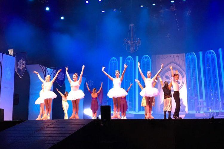 Circus on Ice menampilkan 11 pemain sirkus internasional dari Rusia dan Ukraina. Mereka menghibur penonton dari atas es.