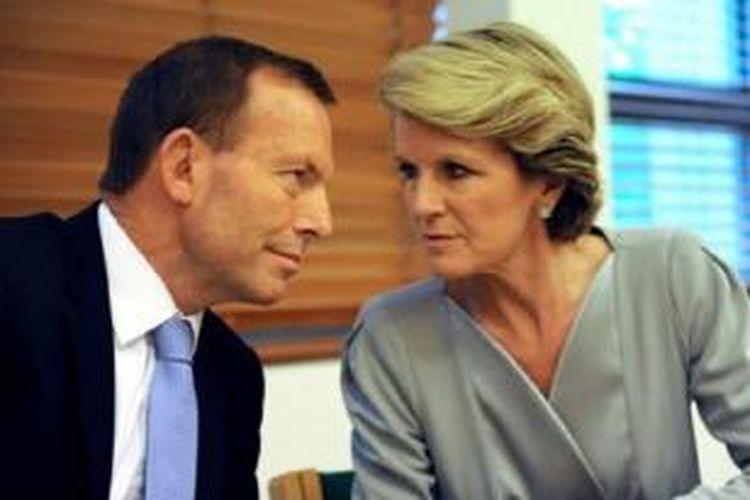 PM Australia, Tony Abbott, beserta Calon Menteri Luar Negeri, Julie Bishop
