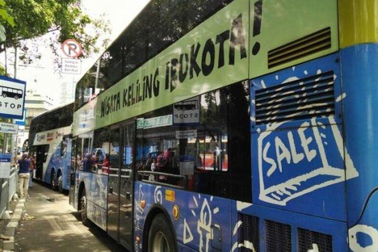 Bus Wisata Jakarta, alternatif transportasi wisata bagi wisatawan di Jakarta.