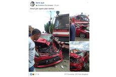 Viral Sedan Disebut Tertabrak Mobil Damkar karena Tak Berikan Jalan