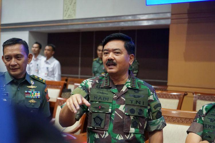 Panglima TNI Marsekal Hadi Tjahjanto di Gedung Nusantara II, Kompleks Parlemen, Senayan, Jakarta, Kamis (24/5/2018) malam.