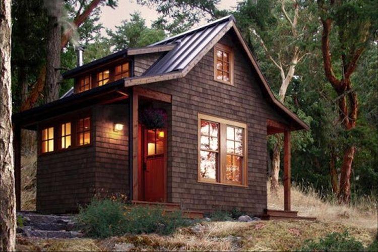 Ilustrasi rumah kecil.