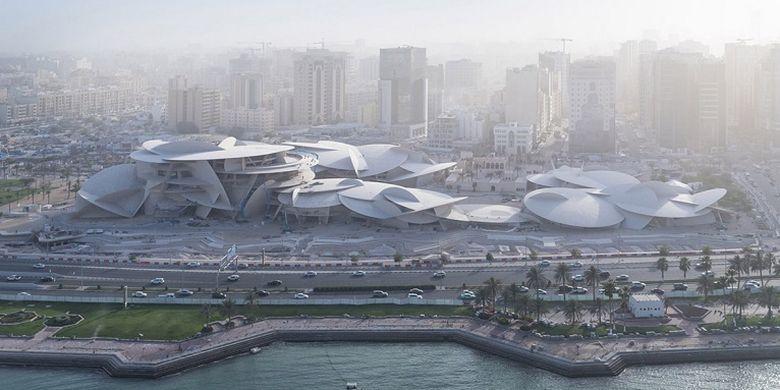 National Museum of Qatar di Doha yang dirancang oleh arsitek Perancis Jean Nouvel.
