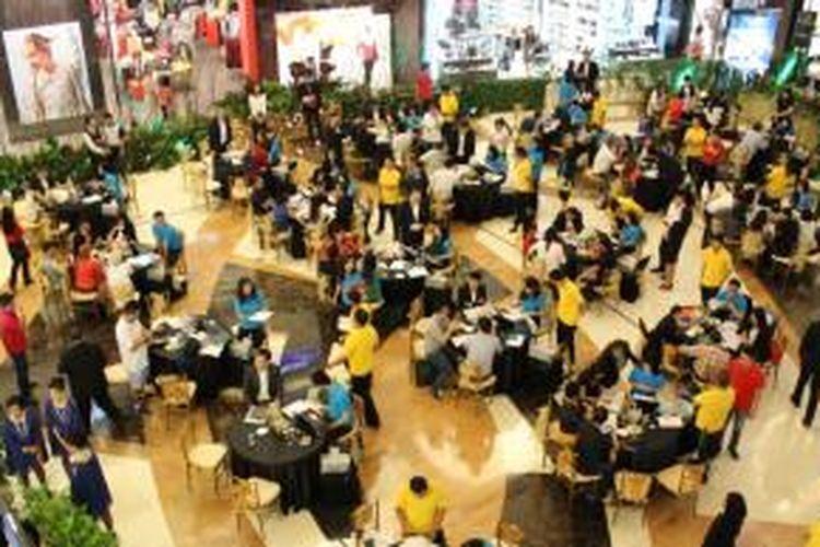 Suasana peluncuran menara apartemen kedua Eastern Wing Embarcadero Park di Lippo Mall Kemang, Jakarta Selatan (8/11/2014).
