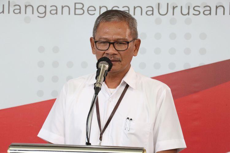 Juru bicara pemerintah untuk penanganan virus corona, Achmad Yurianto, dalam konferensi pers di Graha BNPB pada Kamis (2/4/2020).