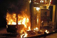 SPBU Terbakar, Diduga Api Berasal dari Angkutan Umum, Sopirnya Kabur