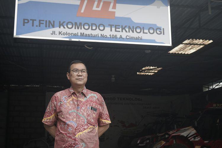 Ir. Ibnu Susilo (CEO PT FIN Komodo Teknologi) saat ditemui di pabrik Fin Komodo Cimahi Jawa Barat