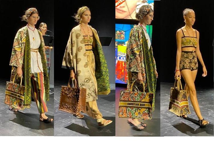 Kain Endek Bali digunakan oleh rumah mode Christian Dior untuk koleksi Spring/Summer 2021