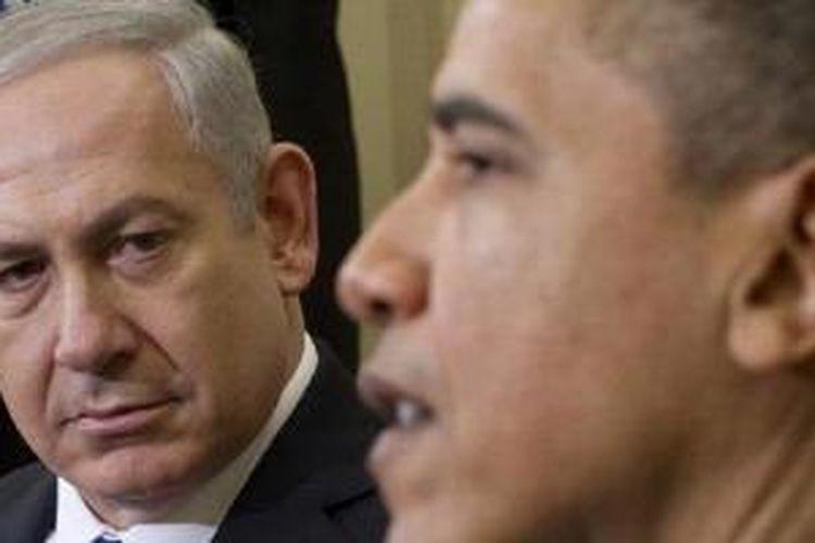 PM Israel Benjamin Netanyahu (kiri) dan Presiden Amerika Serikat Barack Obama