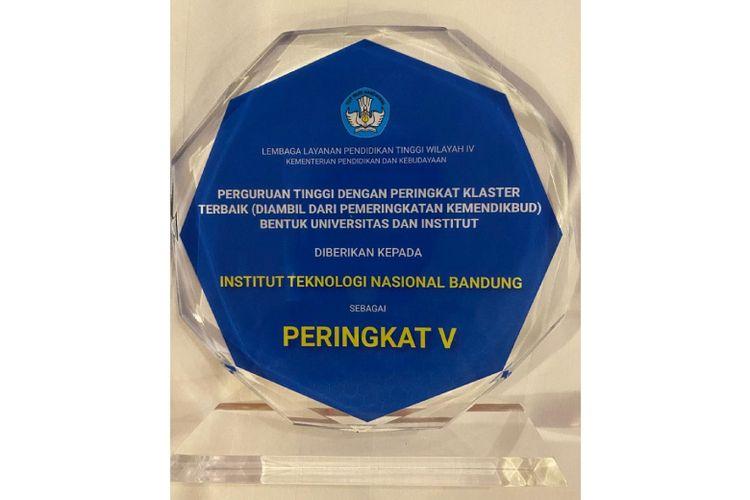Penghargaan LLDIKTI Wilayah IV untuk Itenas