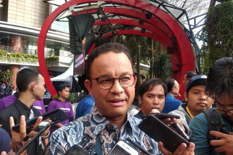 Gubernur DKI Jakarta Anies Baswedan, di Lippo Mall Kemang, Kemang, Jakarta Selatan, Sabtu (8/12/2018)