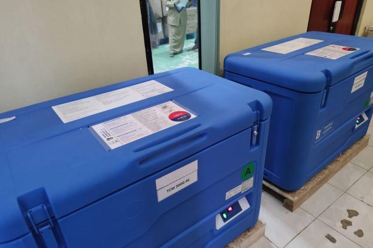 Vaksin Covid-19 Sinovac tiba di Depok pada Selasa (12/1/2021).