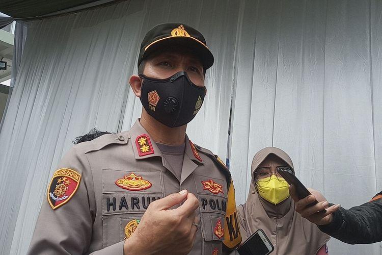 Kapolres Bogor AKBP Harun saat ditemui usai mengikuti program vaksinasi Covid-19 tahap pertama di Puskesmas Cimandala, Kecamatan Sukaraja, Kabupaten Bogor, Jawa Barat pada Kamis (28/1/2021).