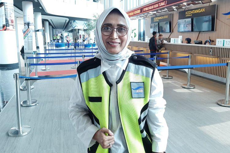 Direktur Utama PT ASDP Ferry (Persero) Ira Puspadewi di Pelabuhan Merak, Rabu (29/5/2019)