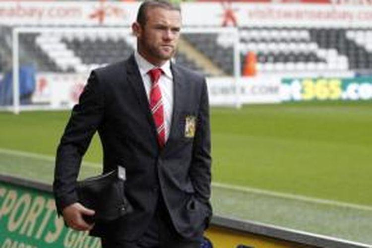 Striker Manchester United, Wayne Rooney.