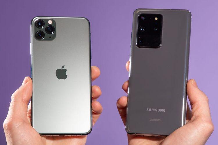ilustrasi Apple vs Samsung
