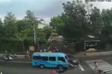 Viral Video Elf Tabrak Pengendara Motor yang Tengah Berhenti, Ini Kronologi Peristiwanya