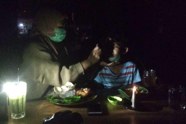 Listrik padam dirasakan warga di Pekanbaru akibat gangguan pada sistem transmisi, Sabtu (15/8/2020). Dok Istimewa