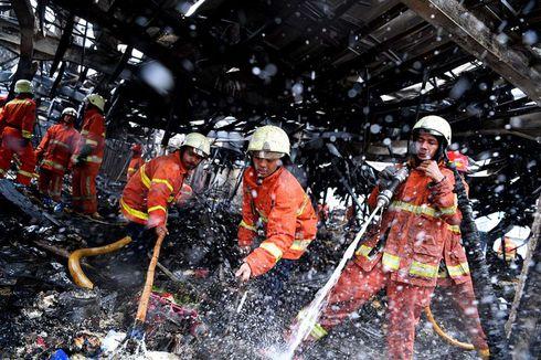 Kebakaran Pasar Blok A Kebayoran Diduga akibat Korsleting Listrik