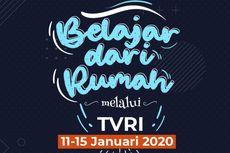 Jadwal TVRI Belajar dari Rumah, Rabu 20 Januari 2021