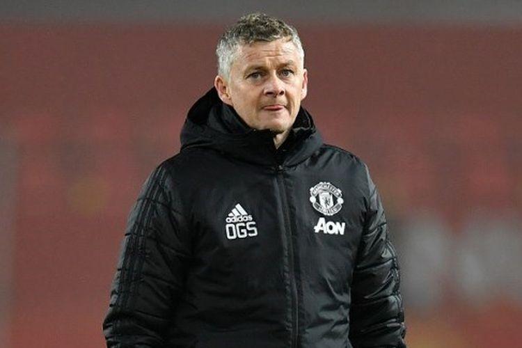 Pelatih Setan Merah, Ole Gunnar Solskjaer, setelah laga Manchester United vs Burnley dalam lanjutan pekan ke-24 Liga Inggris 2019-2020.