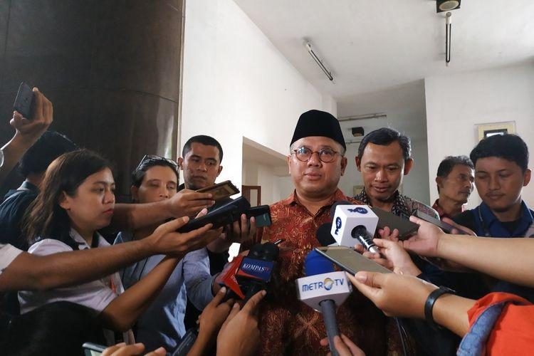 Ketua KPU, Arief Budiman, di Kantor KPU, Menteng, Jakarta Pusat, Kamis (10 /1/2020).