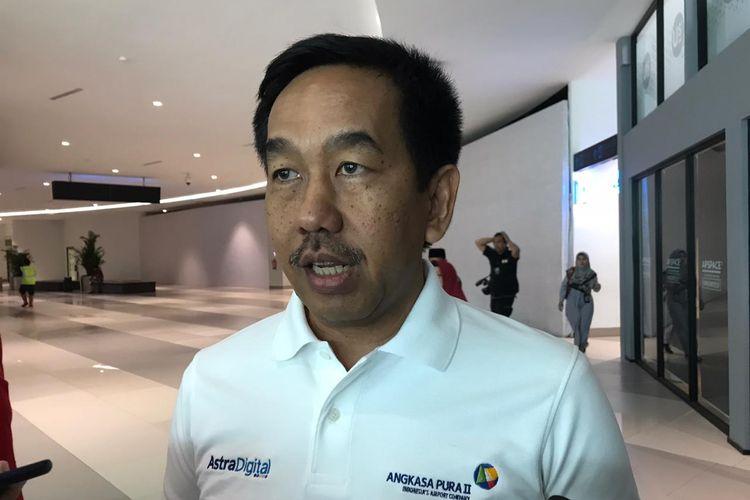 Direktur Utama PT Angkasa Pura II Muhammad Awaluddin di Bandara Soekarno Hatta, Tangerang, Rabu (9/10/2019).