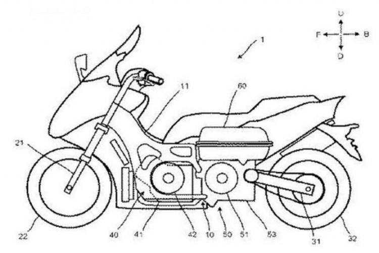 Paten Yamaha Tmax dengan sistem hybrid