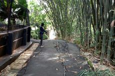Jalan di Kampung Baru Tangsel Retak, Warga Khawatir Melintas