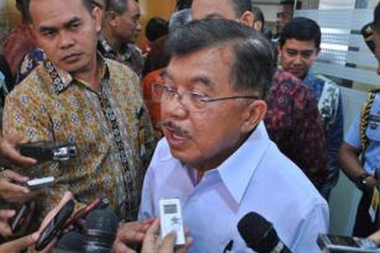 Wapres Jusuf Kalla saat memberikan sambutan pembukaan Rembuk Nasional Pendidikan dan Kebudayaan (RNPK) 2015 di Depok, Minggu (29/3/2015)