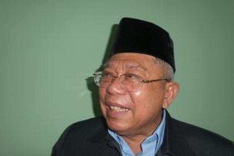 Ketua Bidang Fatwa Majelis Ulama Indonesia Ma'ruf Amin.