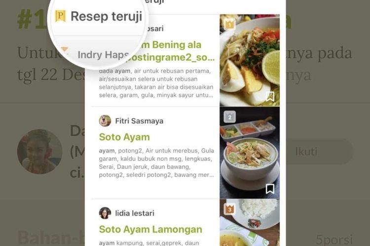 Fitur Resep Teruji (Premium) dari Cookpad.